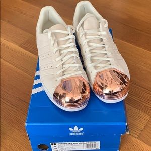 Never used Adidas Superstar Sneakers w Metal Toe